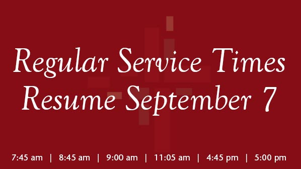 Regular Service Times Resume